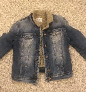 Куртка джинсовая(утеплённая)