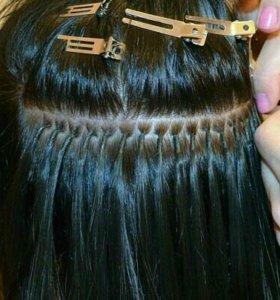 Капсульное нарашивание волос