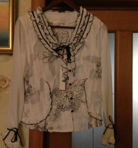 Новая с бирками белая блуза, р. 46