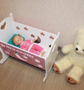 Кроватка для куклы 45 см