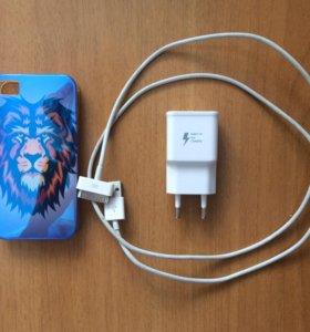 Оригинальный шнур на iPhone 4,4S и блок Samsung