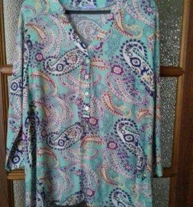 Рубашка для беременяшки р.46-48