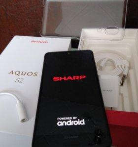 Sharp Aquos S2 BLACK 4/64 синий, белый и черный