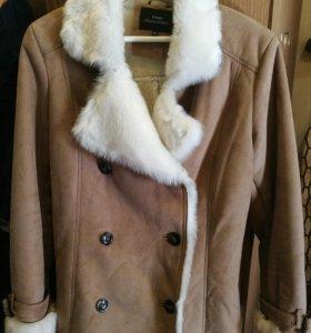 Замшевая куртка с искусственным мехом