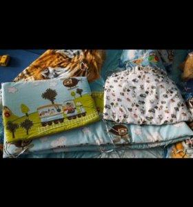 Бортики и постельное белье для кроватки