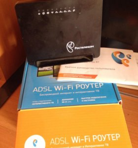 Wi-Fi роутер ADSL+ip приставка
