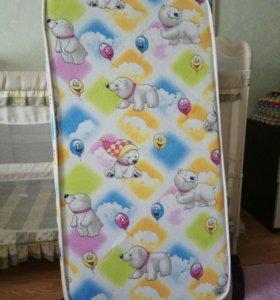 Кровать-манеж с матрасом Орматек