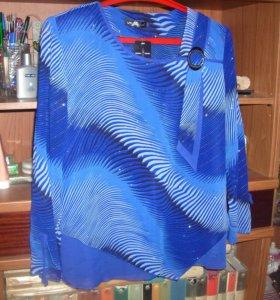 Блузка нарядная шифоновая раз. 52-54