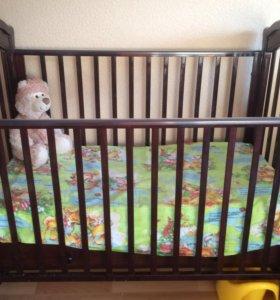 Детская кроватка Шарлотта Гандылян, цвет махагон