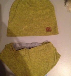 Комплект шапка + слюнявчик