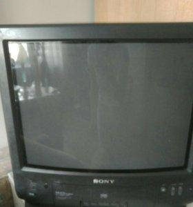 Телевизор Sony цветной с видео магнитофоном