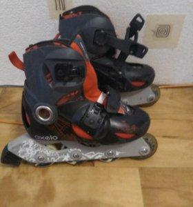 Роликовые коньки детские + шлем