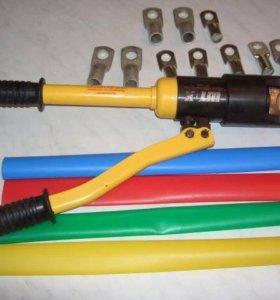 Опрессовка провода гидро прессом