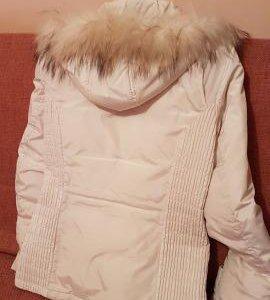 Белая куртка-пуховик Ostin