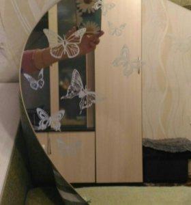 Зеркало для ванны с полочкой