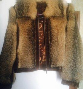 Стильная Куртка натуральный мех
