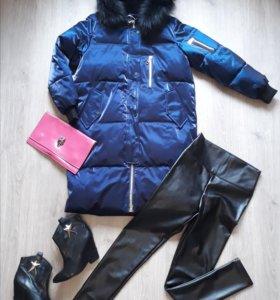 Куртка шикарная!новая,зимняя, длинная на синтепоне