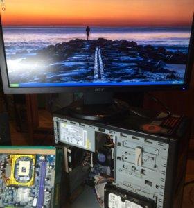 Компьютер с монитором Acer FullHD 23' и детали