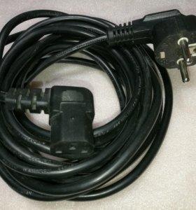 Шнур сетевой DSU-220V 3/Евро вилка 0,75mm