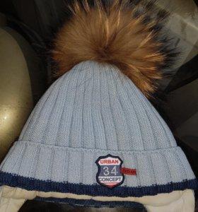 Детская теплая шапка