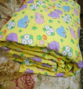 Детское одеяло ( Эвкалипт)новое !(+подарок)