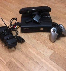 Xbox 360 + game pad + Kinect + игры