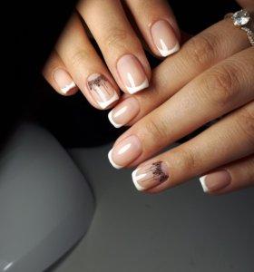 Покрытие ногтей гель-лаком. Наращивание ногтей.