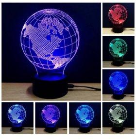 3D лампа ночник Земля
