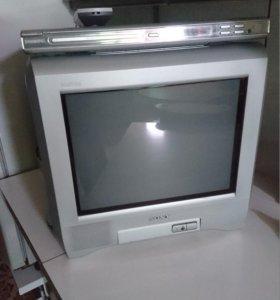 Телевизор Sony и DVD player Philips