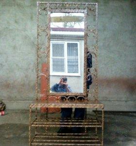 Обувница с зеркалом
