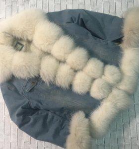 Меховая джинсовая куртка