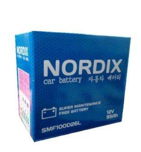 """Аккум. батарея """"Nordix"""" 95 A/ч, 730А, SMF100D26L"""