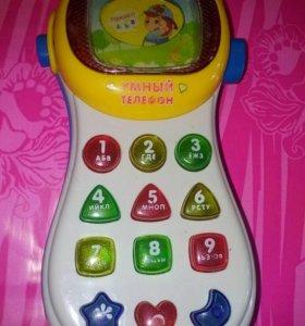 Умный телефон со светом и звуком