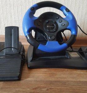 Продам игровой руль +педали