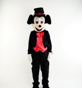 Ростовая кукла мышь Микки Маус в красной рубашке