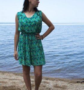 Летнее мятное платье, сарафан