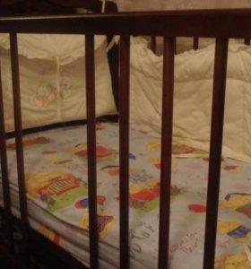 кроватка детская Можга с матрасом