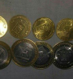 Юбилейные монеты 10 рублей биметалл ГВС