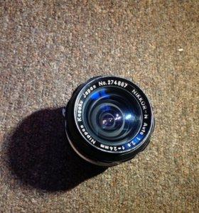 Объектив Nikkor 24mm с F/2.8 (Nikon F)