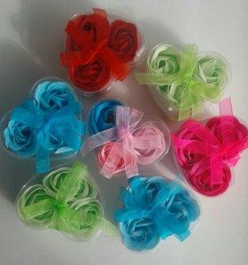 Розы-мыло в коробочке