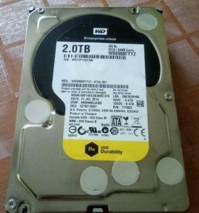 """Жесткий диск WD2000FYYZ 2Tb, 3,5"""", RAID Edition"""