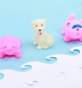 Набор игрушек - пищалок из 3шт новый