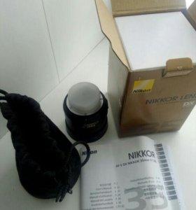Объектив nikkor lens AF-S DX NIKKOR 35mm f\1.8G