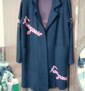 Вязанное пальто(кардиган)