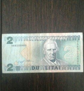 Банкнота литвы