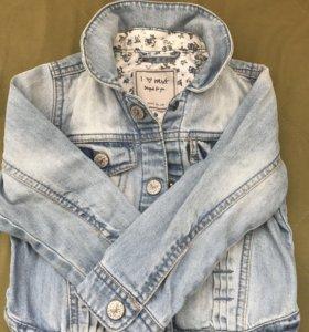 Джинсовая курточка для девочки на 2-3 года 98 см