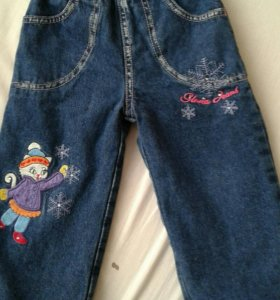 джинсы зимние