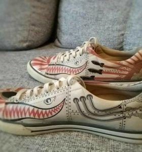 Демисезон дизайнерские ботинки. dogo. Бу 1 раз