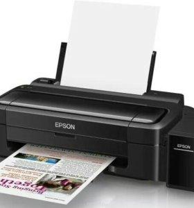 Принтер цветной Epson L132 новый+2 набора