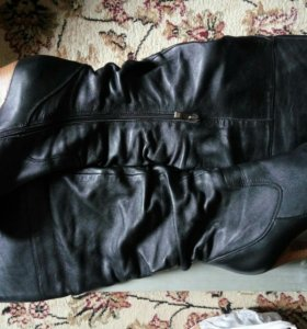 Осенние кожаные женские сапоги 40 размер